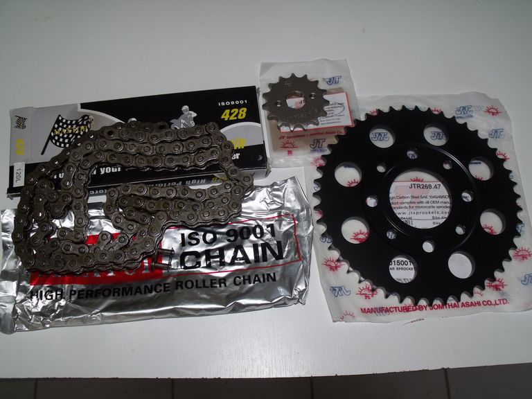 Kit-chaine ISO 9001, 13 x 51 dents: Honda 125XL, XLS, XR, SL, TL