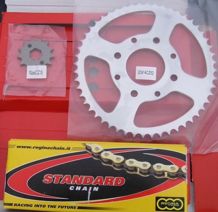 Kit-chaine Honda 125TL, 15x51 dents, ISO 9001; en promotion