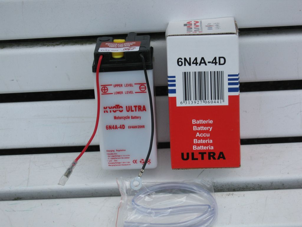 Yamaha 50TY/RD/DT/FS1: Batterie KYOTO 6N4A4D