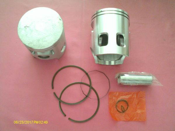 Piston complet neuf pour Yamaha 125 DT DTE & TY, normes ISO 9001